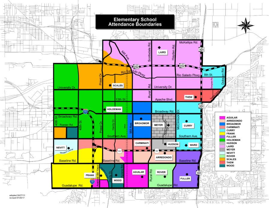glendale az zip code boundary map